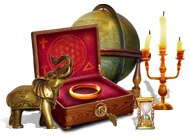 Играт в флеш игру Поиск предметов Путешествие Кассандры. Пророчества Нострадамуса бесплатно